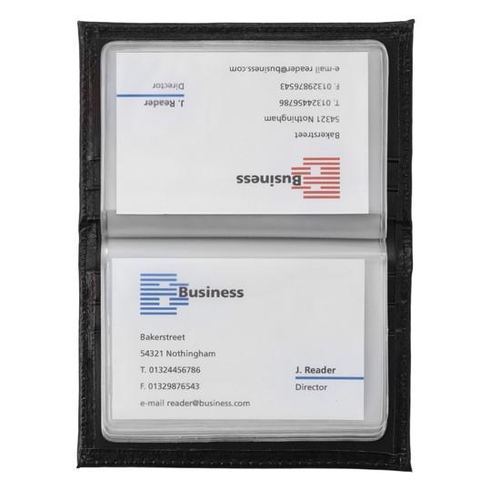 Porta-cartão de crédito de pele regenerada