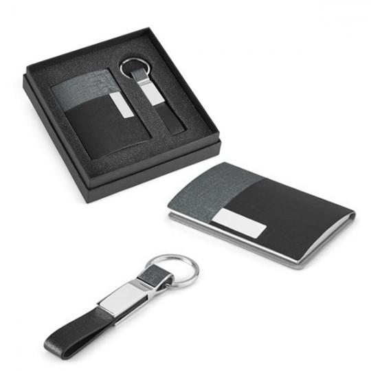 Conjunto porta-cartões e porta-chaves