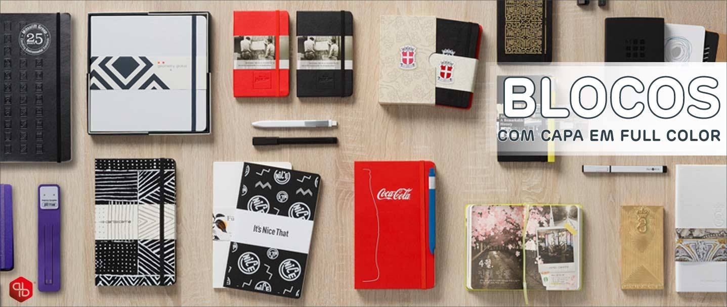 Blocos e cadernos